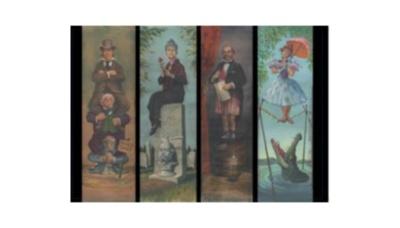売れ筋ナンバー1のポストカード ホーンテッドマンション壁画 (195円)
