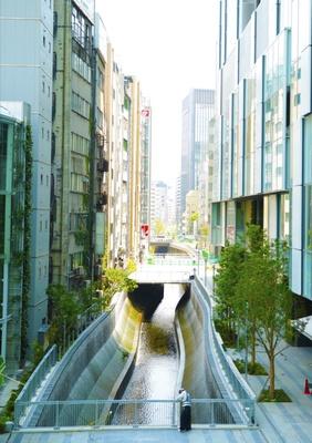 渋谷川沿いには新たに遊歩道が…