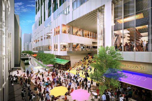 【画像を見る】稲荷橋広場では様々なイベントが開催予定