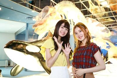 SKE48の北川綾巴と中野愛理が、名古屋港水族館をレポート!