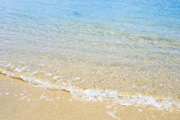 砂遊びや貝拾いなど海を満喫/阿万海岸海水浴場