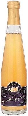 ワイン用のブドウ「セイベル」を贅沢に使った「北海道サイダー スパークリング・グレープ白」(550円)