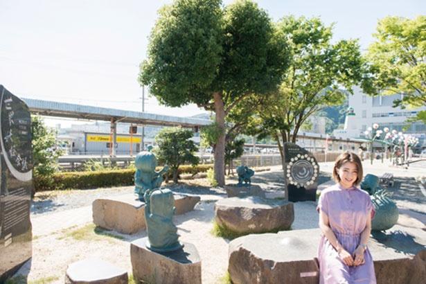 JR境港駅を出たら水木しげるロード/水木しげるロード