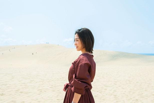 雄大な砂景色はいつまでも飽きることなく眺めていられる/鳥取砂丘