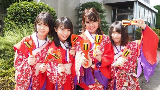 「AKB48 チーム8の あんた、ロケロケ!~埼玉編」に出演する高橋彩音、坂口渚沙、倉野尾成美、宮里莉羅(写真左から)