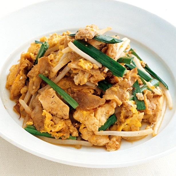 にらともやしがボリューミーな「豆腐チャンプルー」