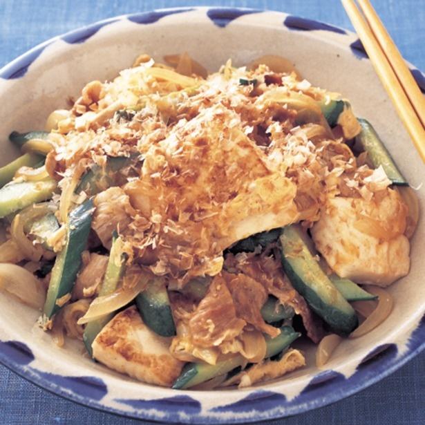 「豆腐ときゅうりのチャンプルー」