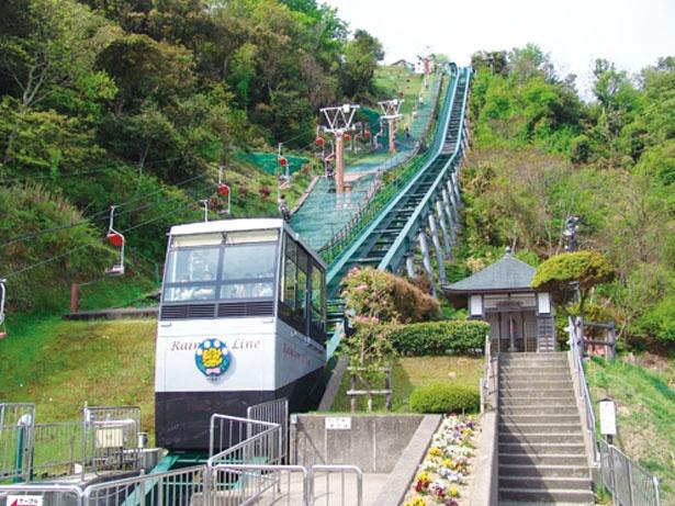 山頂公園はリフトorケーブルで簡単に登れる/レインボーライン山頂公園