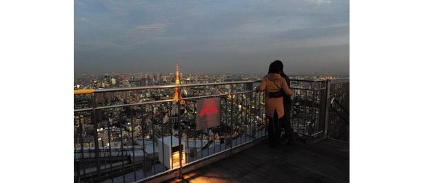 六本木ヒルズの屋上からの眺めは格別