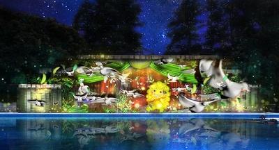 【写真を見る】光や音楽とともに進化したナイトプールの楽しみ方を提供する