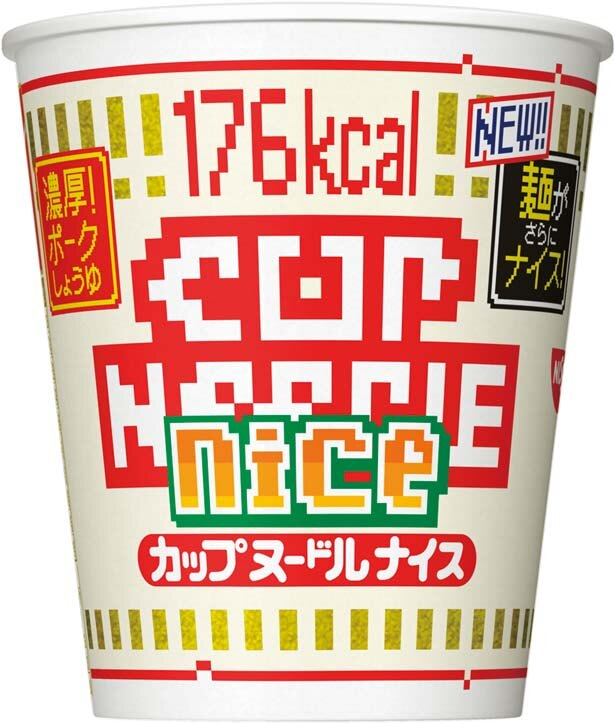 「カップヌードル ナイス 濃厚!ポークしょうゆ」(194円、57g/麺40g、176kcal、食塩相当量4.6g)