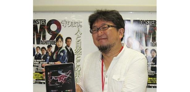 iPadで同時配信されることになったドラマ「MM9」で総監督を務める樋口真嗣監督