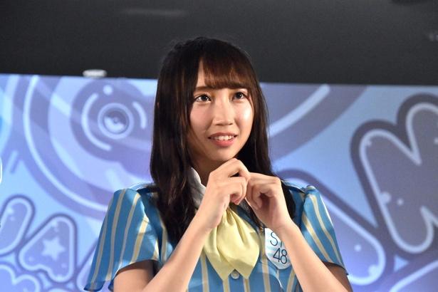 STU48の藪下楓さん(トークイベント「AKB48グループ大集合スペシャル」より)