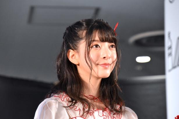 NGT48の菅原りこさん(トークイベント「AKB48グループ大集合スペシャル」より)