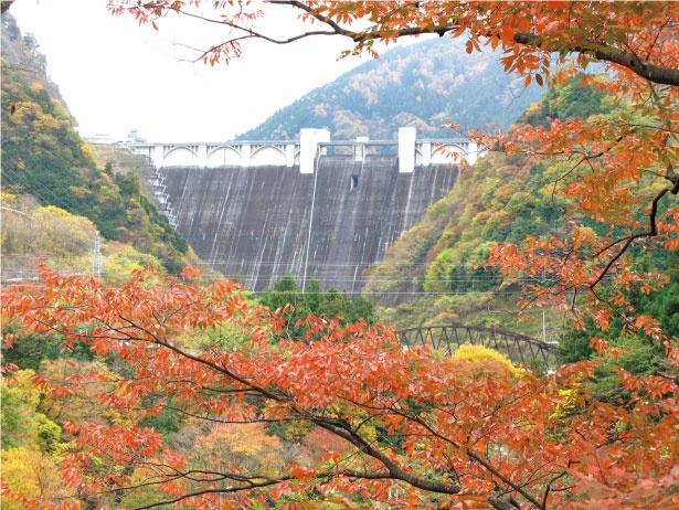 浦山ダムは高さ156メートルで国内6位、重力式コンクリートダムでは2位の高さ