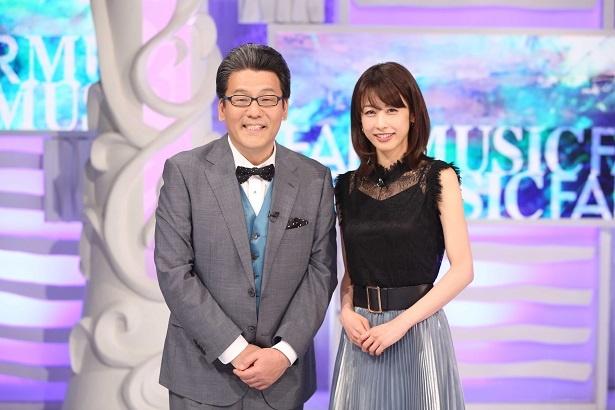 「MUSIC FAIR 」で軽部真一アナと共に司会を務める加藤綾子