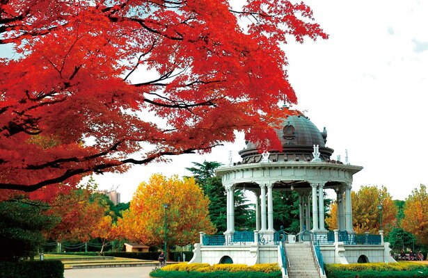 秋模様の奏楽堂など絵になる場所が多い「鶴舞公園」(名古屋市昭和区)
