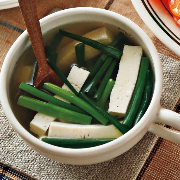 「万能ねぎと豆腐のスープ」