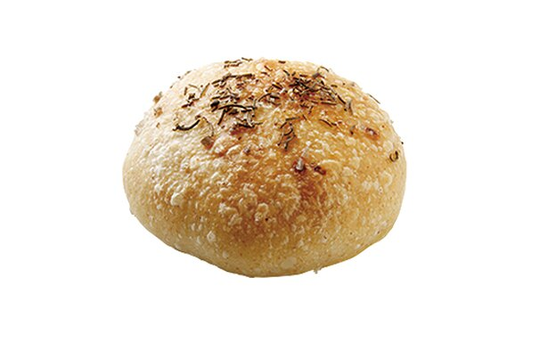「自家製酵母パン のたり」の「フォカッチャ」(170円)。ローズマリーの香りが漂う食事パン。ワインなどのお酒とも相性抜群だ