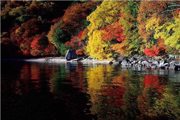 【写真を見る】中禅寺湖は標高1269メートルに位置し、自然湖としては最も高所にある