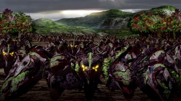 「重神機パンドーラ」第23話の先行カットが到着。大量のB.R.A.Iが産卵を開始!?