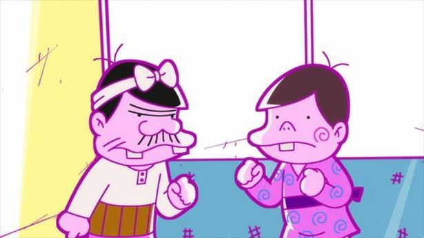 「深夜!天才バカボン」第9話の先行カットが到着。ついに本官がえらい人に呼び出されて!?