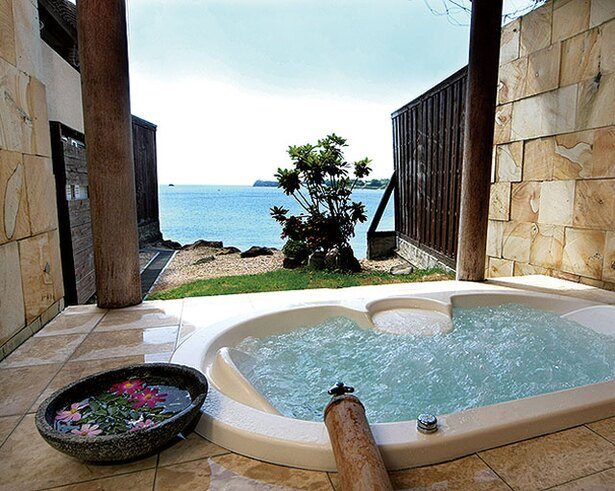 有明海の湯 / 貸切り風呂は有明海の好ロケーションを独占できる