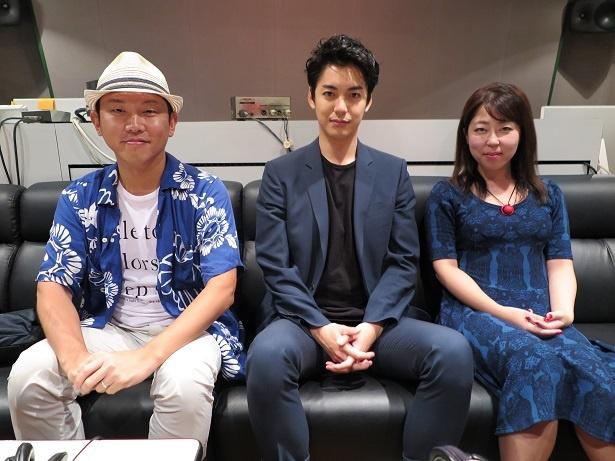 Yuki Saito監督、大野拓朗、舘そらみ氏の3人が副音声企画で本音トーク(写真左から)