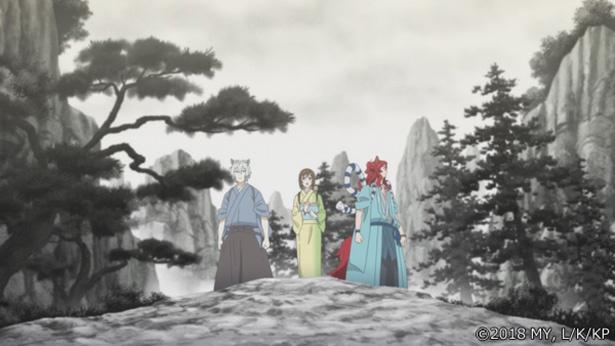 「かくりよの宿飯」第24話の先行カットが到着。蓬莱の玉の枝を求めて水墨画の中へ