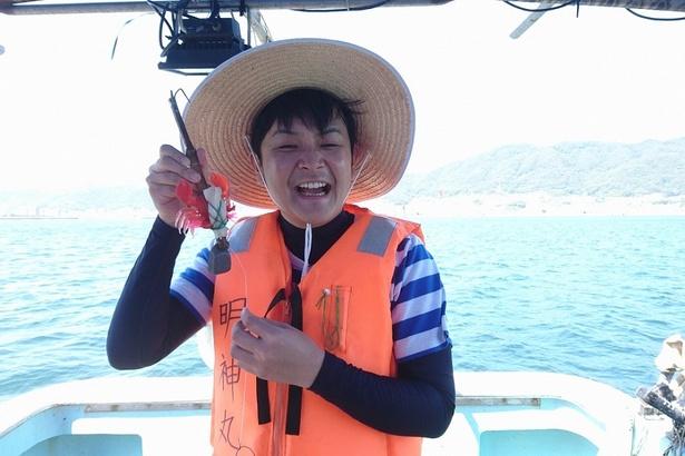 賞金倍増を目指し、タコ漁に挑戦!