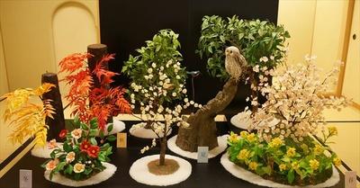 「お菓子でつくる彩色の美 世界の花と鳥展」展示品イメージ