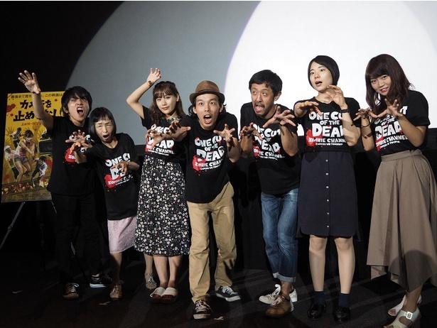 大ヒット上映中の「カメラを止めるな!」の大阪舞台挨拶が行われた