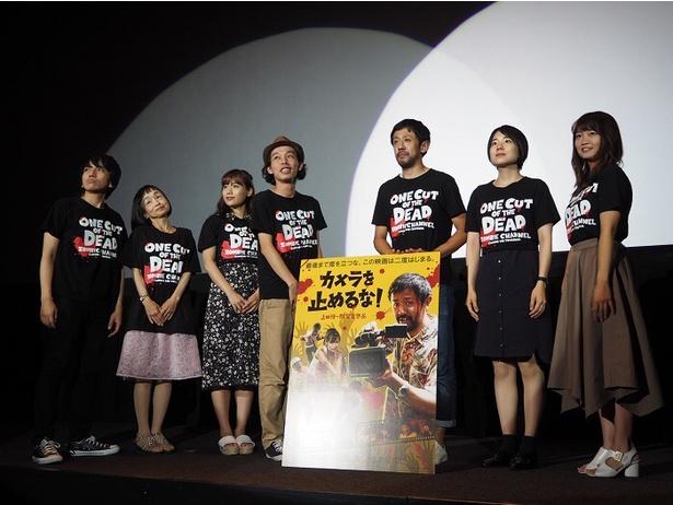 上田監督の一言で綺麗目なポーズを取った7人