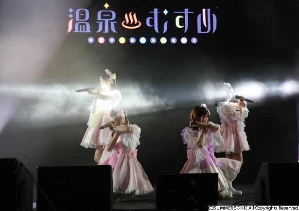 「温泉むすめ」がサマソニに出演!petit corollaは初お披露目ながらアピール大成功!