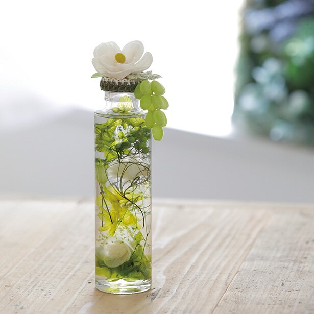 トップの花にアロマで香りをつけても