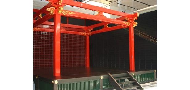 江戸小路エリアの「江戸舞台」。ここで催しを行うこともあるのだとか