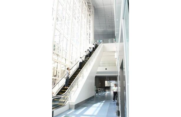 ビル内は光をたっぷり取り入れたデザインになっていて、とても明るい