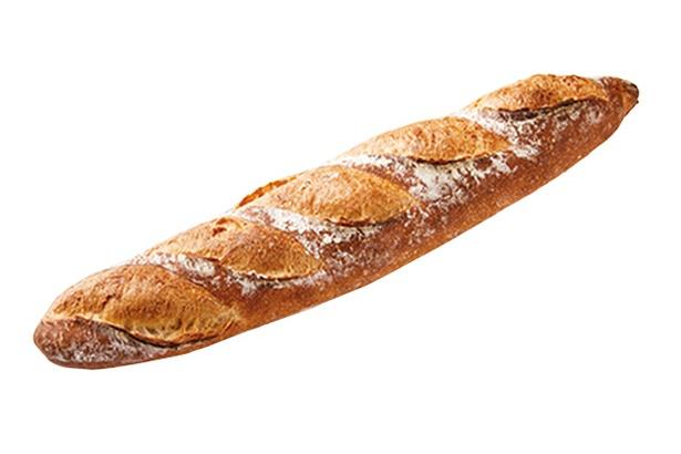 ぱんのもっか / おすすめは「もっかのバケット」(250円)。地元の人気パン屋さんだ