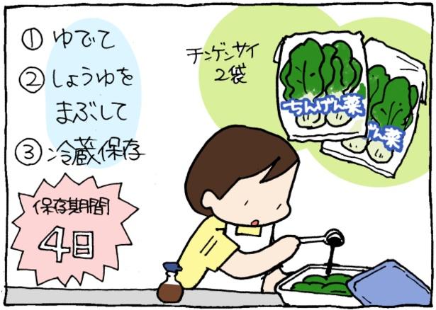 傷みやすい野菜も、ゆでてしょうゆをまぶせば保存期間が長くなる!