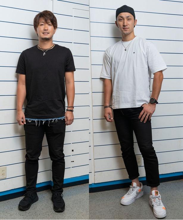 伊藤選手(右)と三嶋選手、2人ともショッピングは好きと言う