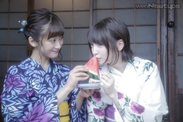 上田麗奈フォトコラム・夏の終わりに浴衣で2人で【後編】