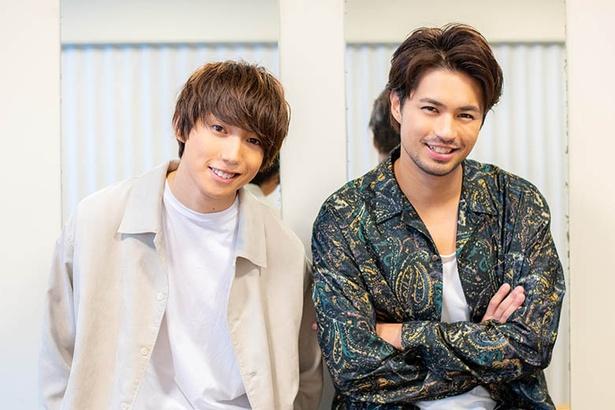 【写真を見る】先行上映イベント後のインタビューに応える佐伯大地、有澤樟太郎