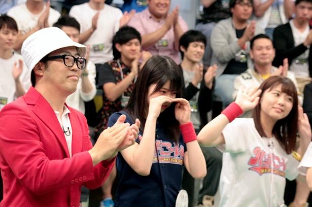 収録終了間際、泣くポーズを見せた吉川七瀬。果たして次回の放送は…?