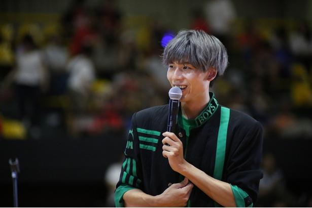 「バスケ未経験の僕だけど、見てるとすごくバスケがしたくなった!」と語る吉原雅斗