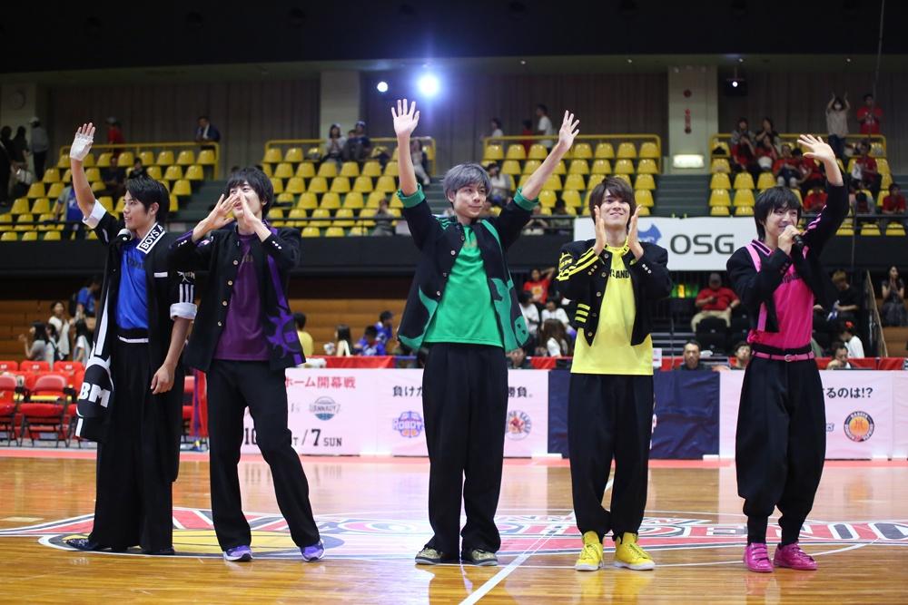 9月9日(日)、「B.LEAGUE EARLYCUP 2018 TOKAI(Bリーグ アーリーカップ 2018 東海)」3日目に登場したBOYS AND MEN(誠)