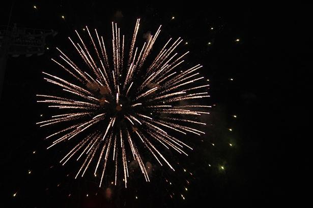 【写真を見る】秋の夜空に打ち上がる1600発の花火