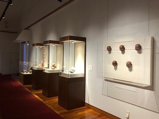 第4展示室には立体創作物が。さまざまな角度から見てみよう