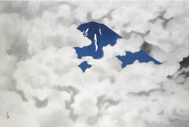【写真を見る】横山大観「霊峰四趣・夏」