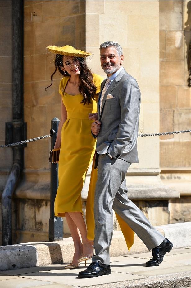 メーガン妃挙式に参加したアマルのドレス姿は絶賛された