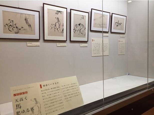 【写真を見る】絵金の愛称で親しまれる浮世絵師・弘瀬金蔵の作品を展示